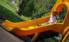 Child Sliding Royalty Free Stock Photography