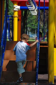 Free Child In Playground Stock Image - 7835861
