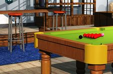 Free Snooker Room Stock Photo - 7836000