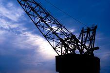 Shipyard Crane Royalty Free Stock Photos