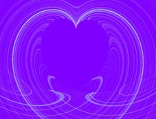 Free White Heart Design With Purple Copy Space Royalty Free Stock Photos - 7836108