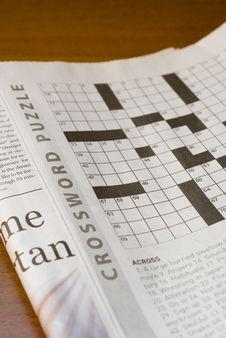 Crossword Puzzle Stock Photography
