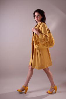 Free Fashion Model In Studio Royalty Free Stock Image - 7836226