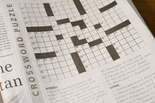 Free Crossword Puzzle Royalty Free Stock Images - 7836229