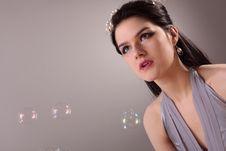 Free Fashion Model In Studio Stock Photos - 7836233
