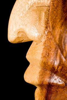 Wooden Nose Stock Photo