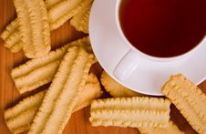 Free Cup Of Black Tea And Cookies Royalty Free Stock Photos - 7836848