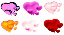 Free Beautiful Hearts Royalty Free Stock Photo - 7836915