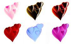Free Beautiful Hearts Royalty Free Stock Photo - 7836935