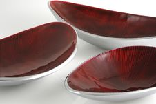 Free Metallic Red Plates Royalty Free Stock Photo - 7837145