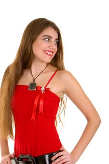 Free Sexy Woman In Red Stock Image - 7837771