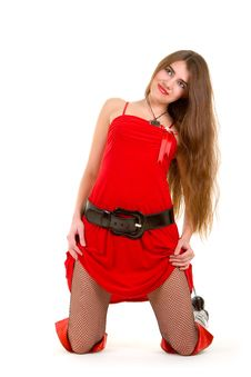 Free Sexy Woman In Red Royalty Free Stock Image - 7837816