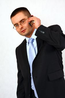 Free Businessman With A Mobile Phone Stock Images - 7837854