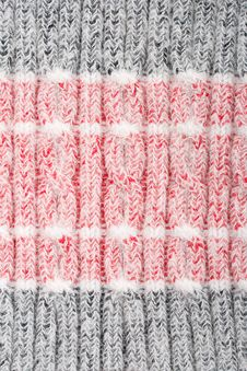Free Red-gray Woolen Cloth Royalty Free Stock Image - 7838276