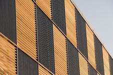 Free Corrugated Facade At Sunset Royalty Free Stock Image - 7838406