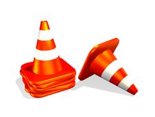 Free Traffic Cone Stock Photography - 7838472