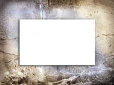 Cement Grunge Texture With White Copy-space Royalty Free Stock Photos
