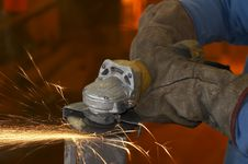 Free Fire Sparks Work Stock Photography - 7838602