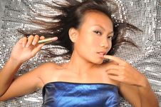 Free Asian Chinese Woman In Teasing Pose Stock Images - 7839964
