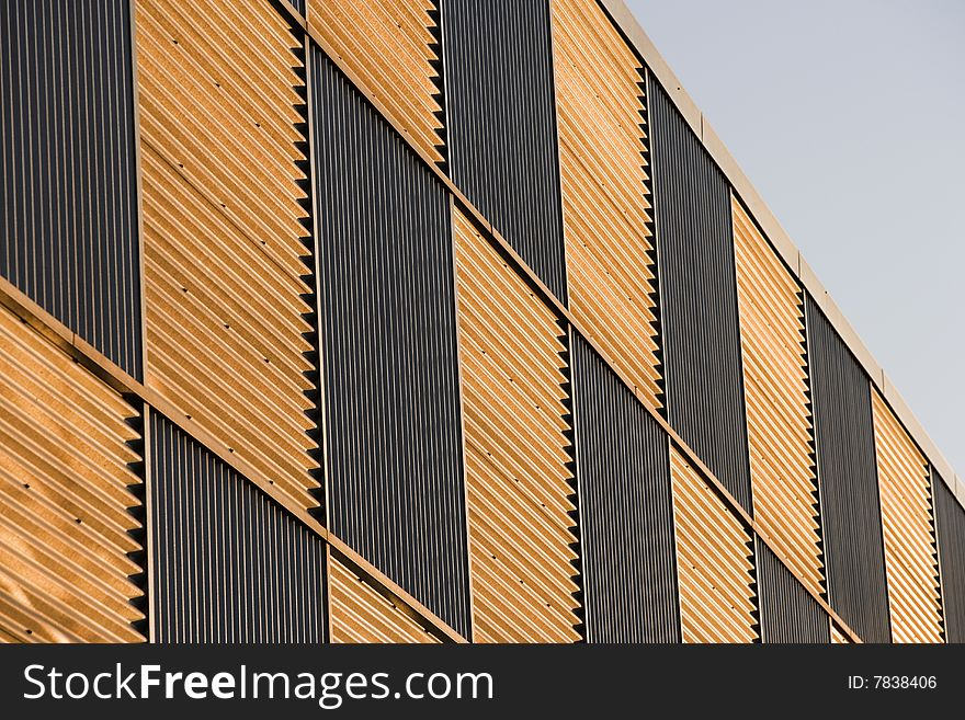 Corrugated Facade At Sunset Free Stock Images Amp Photos