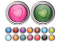 Free Colorful Heart Buttons Stock Photos - 7842293