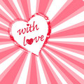 Free With Love - Valentine Background Royalty Free Stock Photos - 7843338