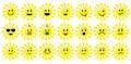 Free Set Of Sun Smileys Stock Photos - 7843973