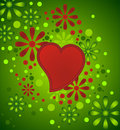 Free Heart With Floral Decoration Stock Photography - 7846952