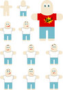Free Flat Little Men Royalty Free Stock Images - 7849019