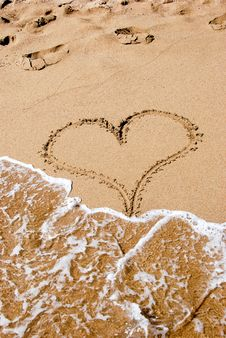 Free Heart In The Sand Stock Photos - 7840523