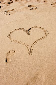 Free Heart In The Sand Stock Photos - 7840543
