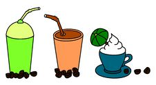 Free Coffee Cliparts Royalty Free Stock Photo - 7841005