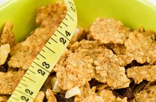 Free Cereal Flakes With Tape Measure Stock Photo - 7841140