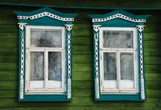 House Window In Russian Village Stock Photography