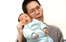 Free Baby And Father Stock Photography - 7841372