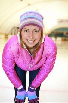 Beautiful Girl  On Skates Royalty Free Stock Image
