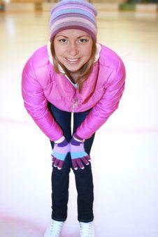 Beautiful Girl  On Skates Royalty Free Stock Photo