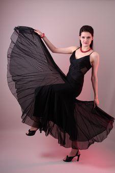 Free Fashion Model In Studio Royalty Free Stock Photos - 7841738