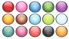 Free Colorful Halftone Buttons Royalty Free Stock Photo - 7842535