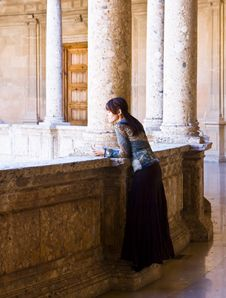 Free Young Woman In Palace Stock Photography - 7842602