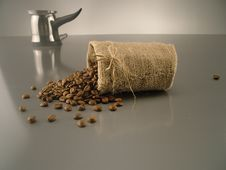 Free Sack And Coffee Beans Stock Photo - 7842670