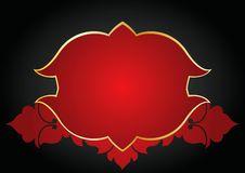 Ornamental Red Frame Stock Photo