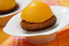 Free Baked Dessert With Peach Fruit Royalty Free Stock Photography - 7842717