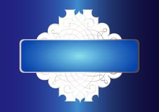 Free Ornamental Blue Banner Royalty Free Stock Images - 7842759