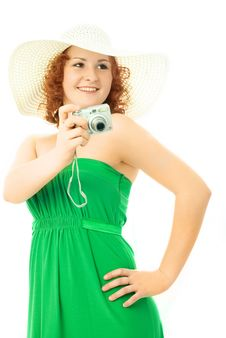 Free Beautiful Woman With A Camera Royalty Free Stock Images - 7842859
