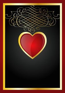 Free Heart Background Royalty Free Stock Photo - 7842885