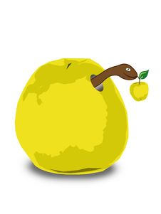 Free Apple With A Worm Royalty Free Stock Photography - 7843007
