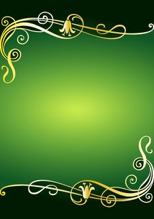 Free Floral Green Frame Stock Photography - 7843062