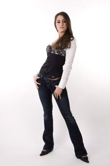 Free Jeanwear Model Stock Images - 7843714
