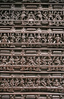 Free Wooden Hindu Relief Royalty Free Stock Images - 7843819
